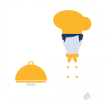 comedor icono blanco