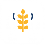 Jardinería icono blanco