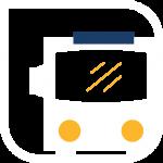 icono transporte blanco