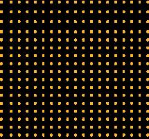 puntos amarillos vector
