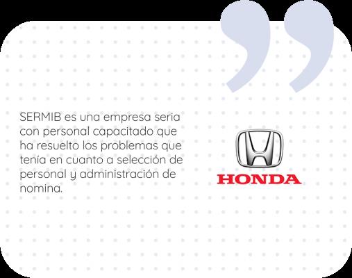 Testimonio Honda